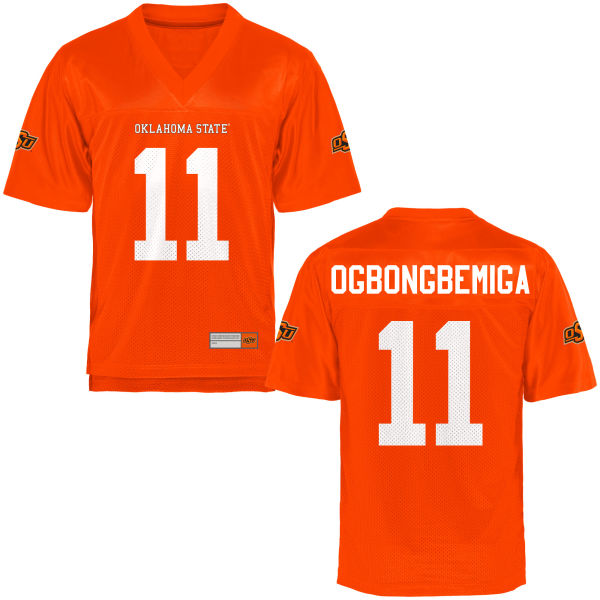 Women's Amen Ogbongbemiga Oklahoma State Cowboys Authentic Orange Football Jersey