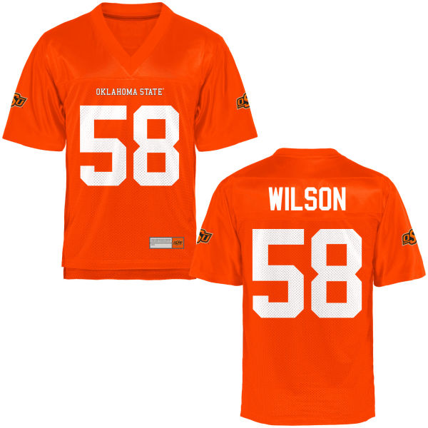 Men's Brett Wilson Oklahoma State Cowboys Game Orange Football Jersey