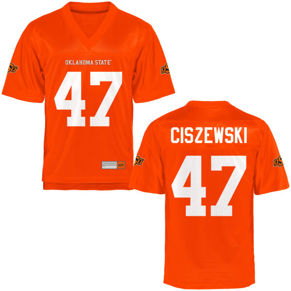 Men's Brian Ciszewski Oklahoma State Cowboys Game Orange Football Jersey