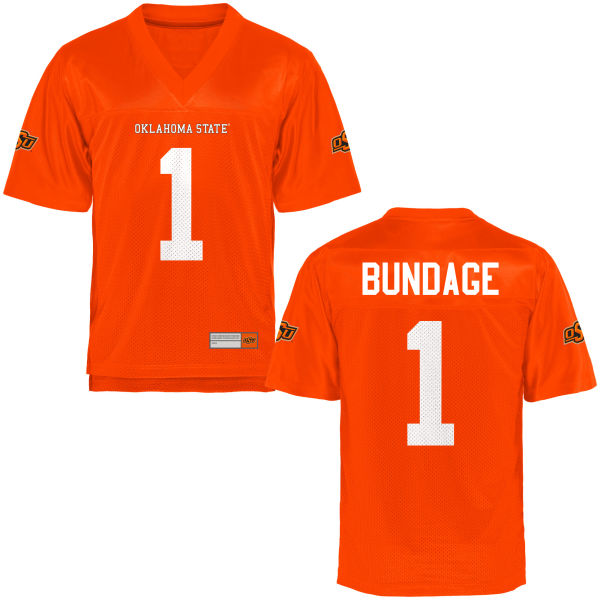 Men's Calvin Bundage Oklahoma State Cowboys Authentic Orange Football Jersey
