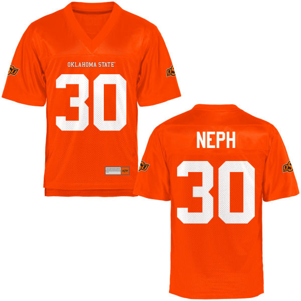 Men's Cole Neph Oklahoma State Cowboys Authentic Orange Football Jersey