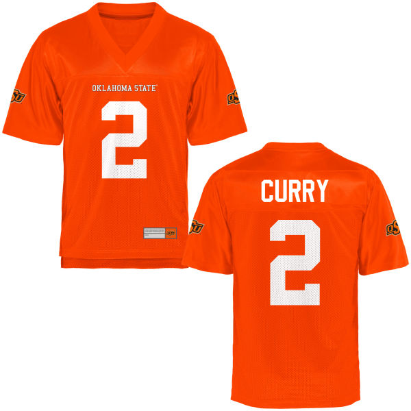 Men's Darius Curry Oklahoma State Cowboys Game Orange Football Jersey