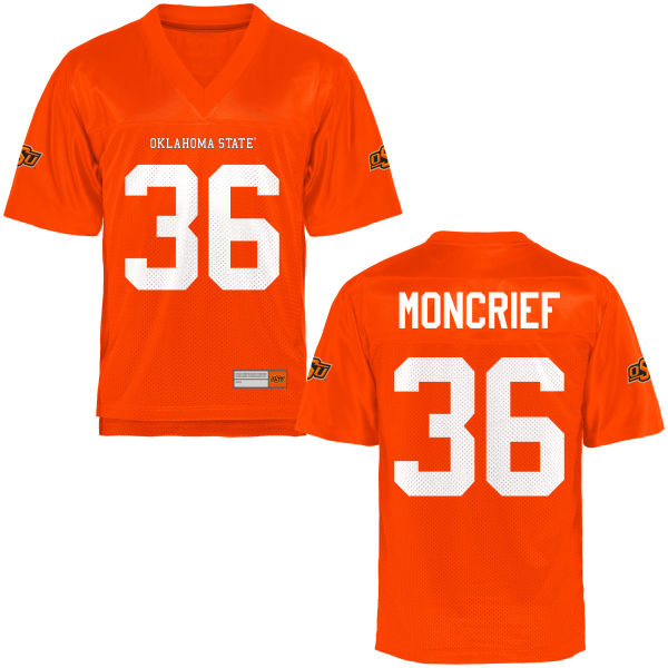 Youth Derrick Moncrief Oklahoma State Cowboys Game Orange Football Jersey