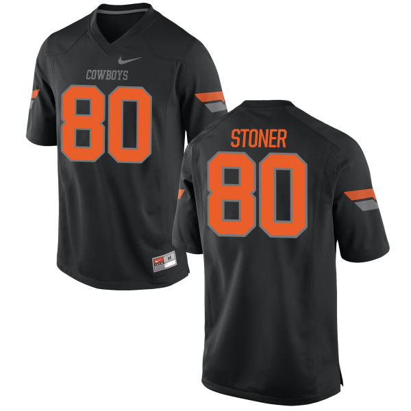 Men's Nike Dillon Stoner Oklahoma State Cowboys Game Black Football Jersey