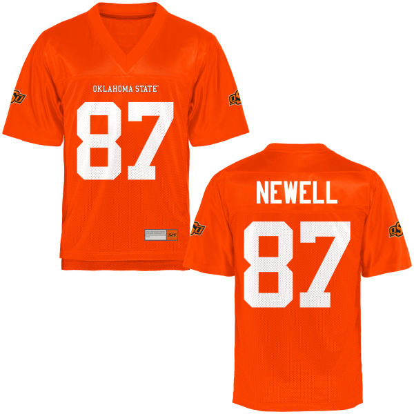 Men's Grant Newell Oklahoma State Cowboys Authentic Orange Football Jersey