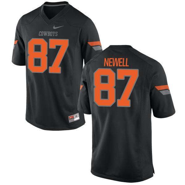 Men's Nike Grant Newell Oklahoma State Cowboys Game Black Football Jersey