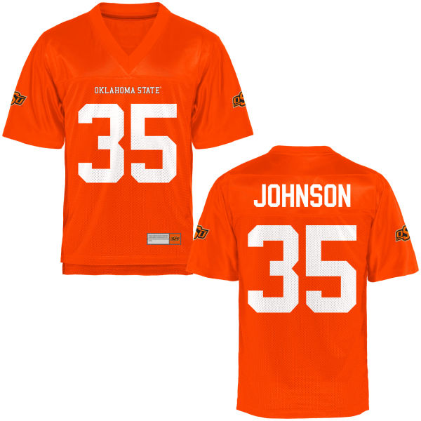 Men's Jakeem Johnson Oklahoma State Cowboys Replica Orange Football Jersey