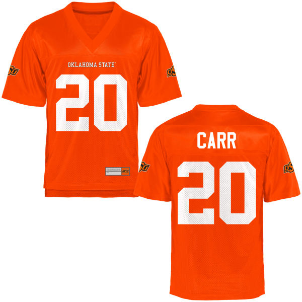 Youth Jeff Carr Oklahoma State Cowboys Game Orange Football Jersey