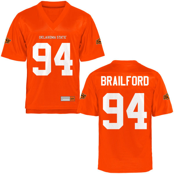 Men's Jordan Brailford Oklahoma State Cowboys Authentic Orange Football Jersey