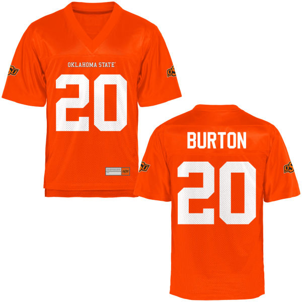 Men's Jordan Burton Oklahoma State Cowboys Authentic Orange Football Jersey