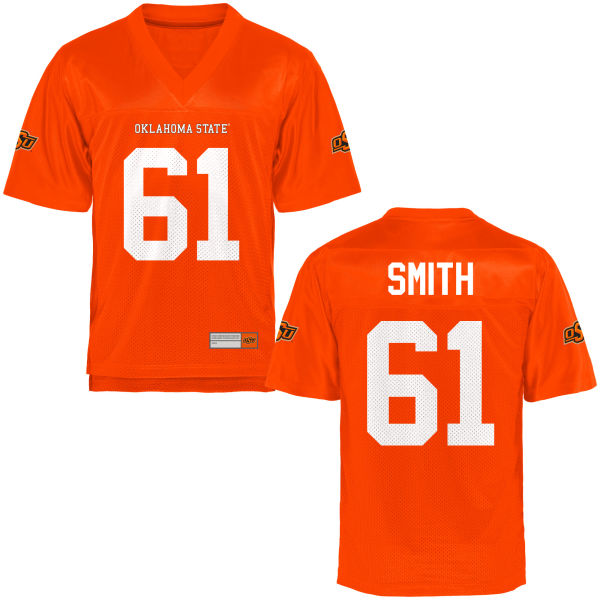 Men's Kaleb Smith Oklahoma State Cowboys Game Orange Football Jersey