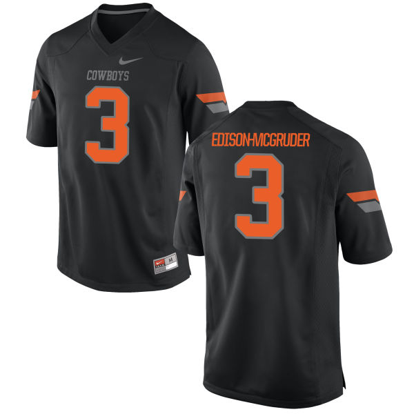 Women's Nike Kenneth Edison-McGruder Oklahoma State Cowboys Authentic Black Football Jersey