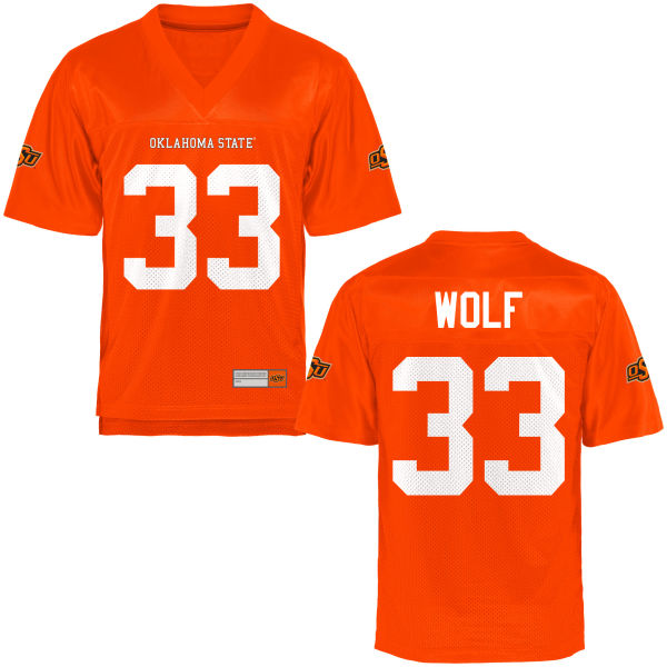 Men's Landon Wolf Oklahoma State Cowboys Limited Orange Football Jersey