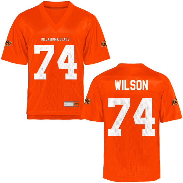 Men's Michael Wilson Oklahoma State Cowboys Authentic Orange Football Jersey