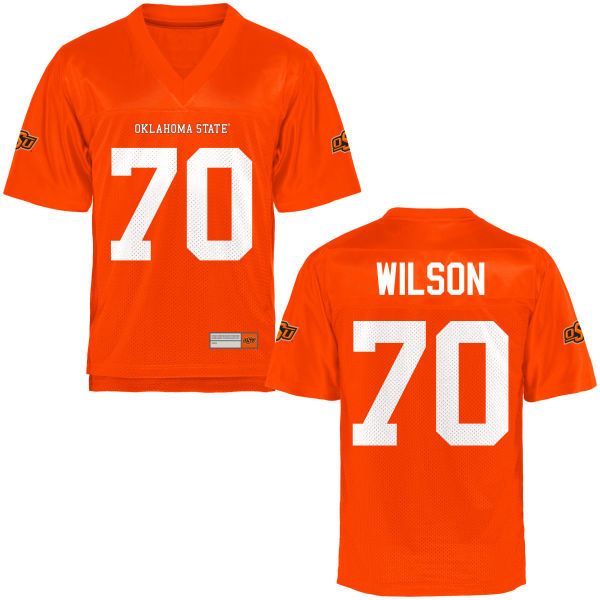 Men's Michael Wilson III Oklahoma State Cowboys Game Orange Football Jersey