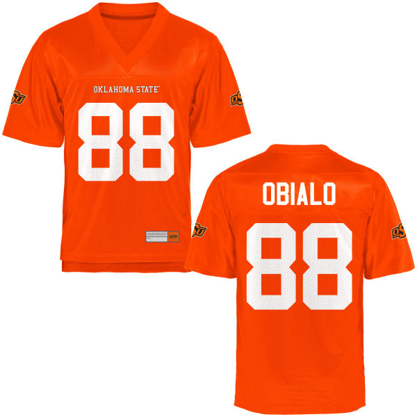 Men's Obi Obialo Oklahoma State Cowboys Game Orange Football Jersey