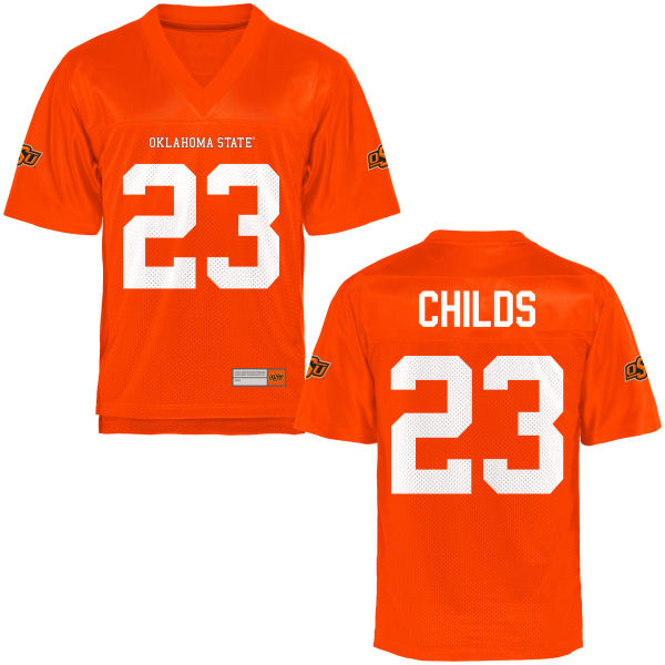 Youth Rennie Childs Oklahoma State Cowboys Game Orange Football Jersey