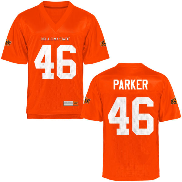 Men's Reshawn Parker Oklahoma State Cowboys Authentic Orange Football Jersey