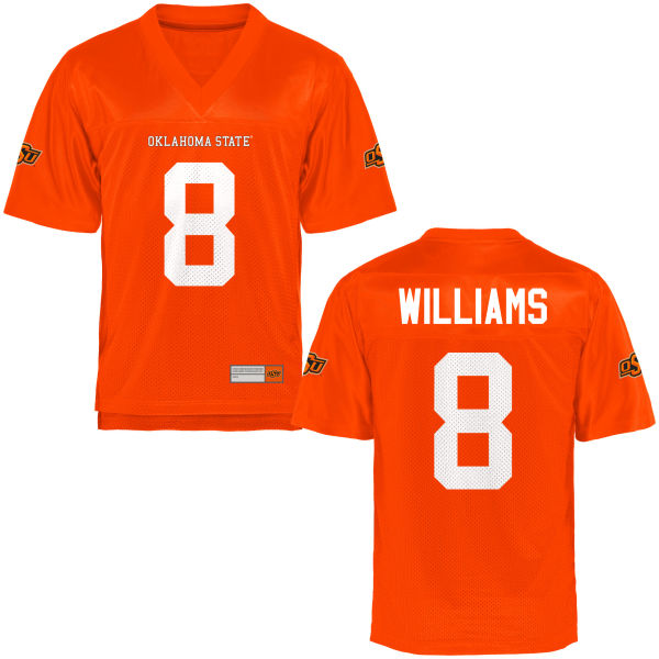 Youth Rodarius Williams Oklahoma State Cowboys Game Orange Football Jersey