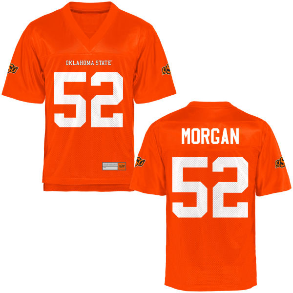 Men's Tanner Morgan Oklahoma State Cowboys Game Orange Football Jersey