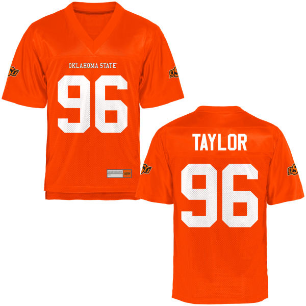 Men's Vincent Taylor Oklahoma State Cowboys Authentic Orange Football Jersey