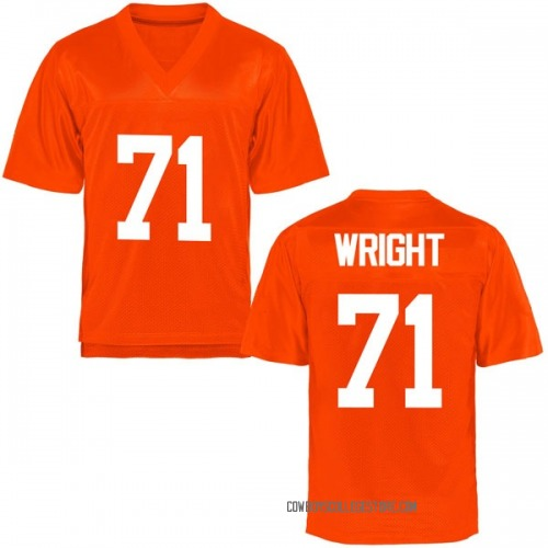 Men's A.J. Wright Oklahoma State Cowboys Game Orange Football College Jersey