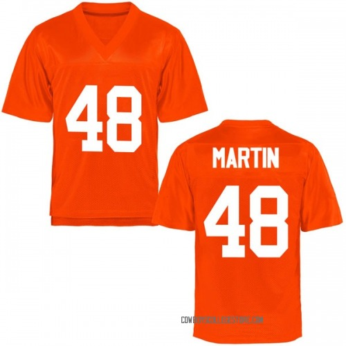 Men's Adam Martin Oklahoma State Cowboys Game Orange Football College Jersey