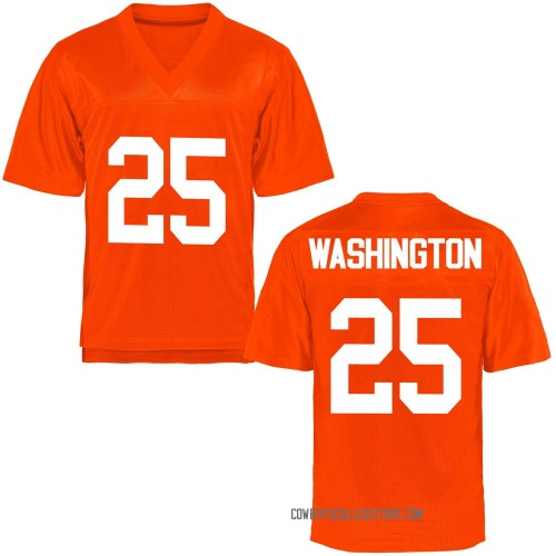 Men's Andre Washington Oklahoma State Cowboys Replica Orange Football College Jersey