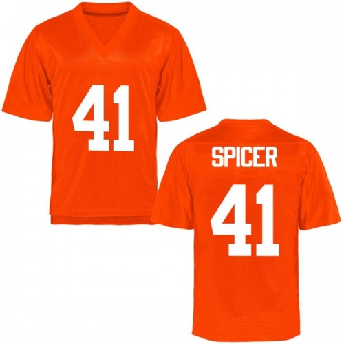 Men's Braden Spicer Oklahoma State Cowboys Game Orange Football College Jersey