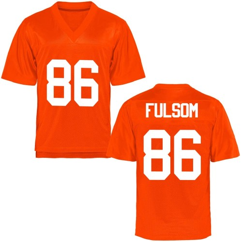 Men's Cale Fulsom Oklahoma State Cowboys Game Orange Football College Jersey