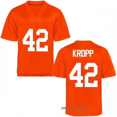 Men's Carson Kropp Oklahoma State Cowboys Game Orange Football College Jersey