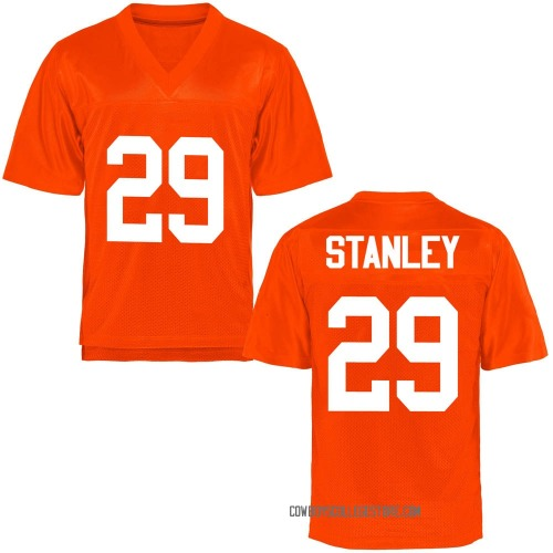 Men's Cole Stanley Oklahoma State Cowboys Game Orange Football College Jersey