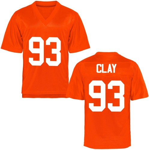 Men's Collin Clay Oklahoma State Cowboys Game Orange Football College Jersey