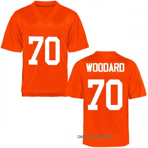 Men's Hunter Woodard Oklahoma State Cowboys Game Orange Football College Jersey