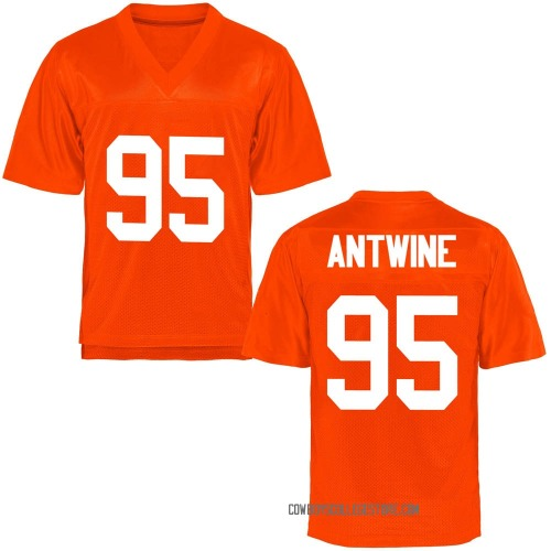 Men's Israel Antwine Oklahoma State Cowboys Game Orange Football College Jersey