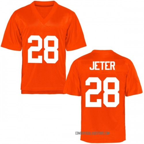 Men's Jahmyl Jeter Oklahoma State Cowboys Game Orange Football College Jersey