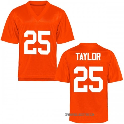 Men's Jason Taylor II Oklahoma State Cowboys Game Orange Football College Jersey