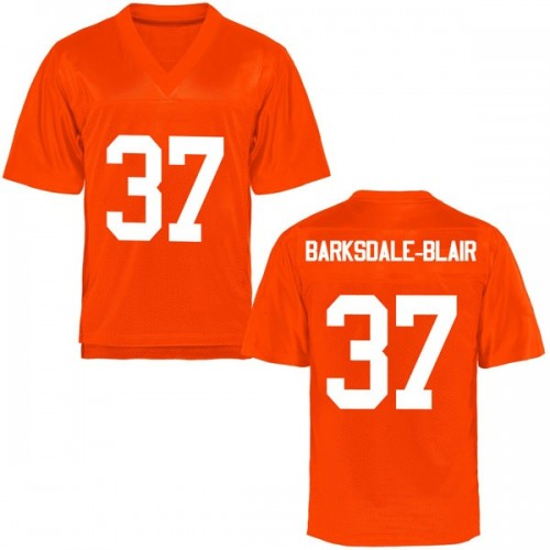 Men's Javarus Barksdale-Blair Oklahoma State Cowboys Replica Orange Football College Jersey