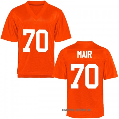 Men's Kevin Mair Oklahoma State Cowboys Replica Orange Football College Jersey