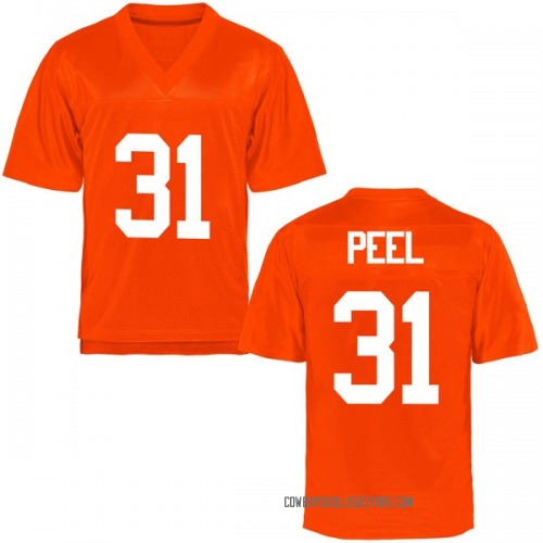Men's Kolby Peel Oklahoma State Cowboys Replica Orange Football College Jersey