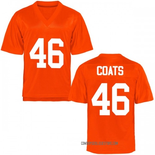 Men's Mike Coats Oklahoma State Cowboys Game Orange Football College Jersey