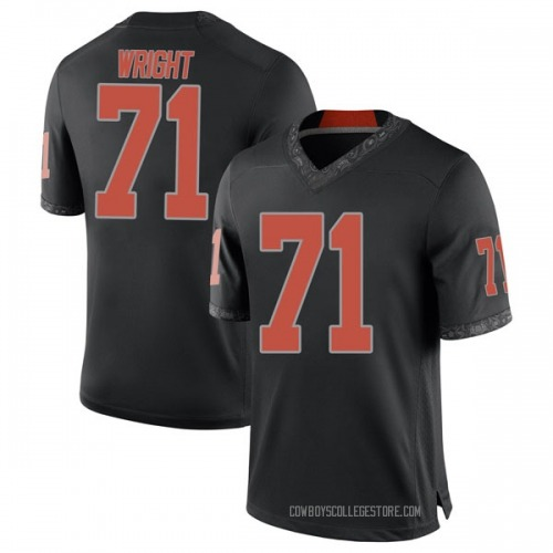Men's Nike A.J. Wright Oklahoma State Cowboys Game Black Football College Jersey