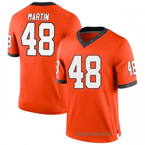 Men's Nike Adam Martin Oklahoma State Cowboys Game Orange Football College Jersey