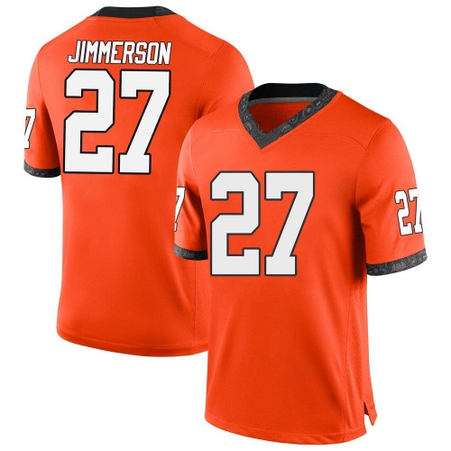 Men's Nike Anthony Jimmerson Oklahoma State Cowboys Game Orange Football College Jersey