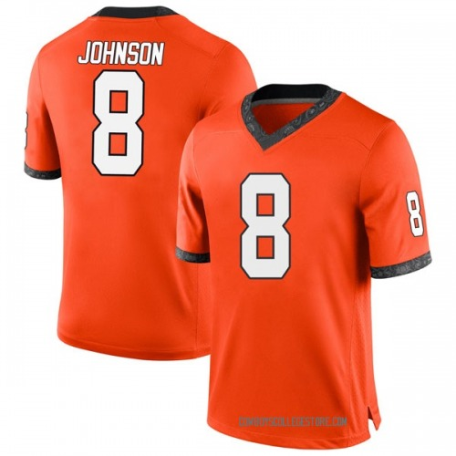 Men's Nike Braydon Johnson Oklahoma State Cowboys Replica Orange Football College Jersey