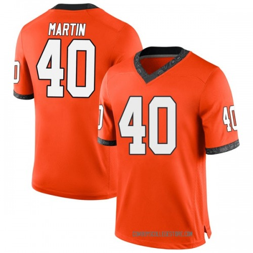 Men's Nike Brock Martin Oklahoma State Cowboys Replica Orange Football College Jersey