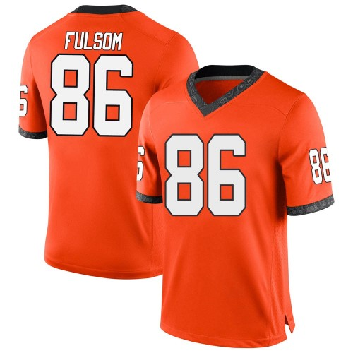 Men's Nike Cale Fulsom Oklahoma State Cowboys Game Orange Football College Jersey