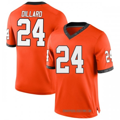 Men's Nike Davon Dillard Oklahoma State Cowboys Game Orange Football College Jersey