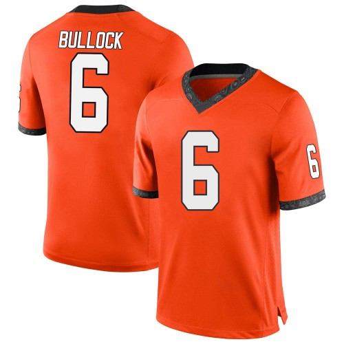 Men's Nike Ethan Bullock Oklahoma State Cowboys Game Orange Football College Jersey