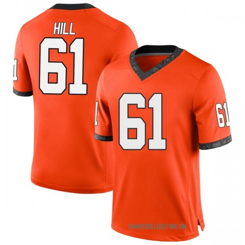 Men's Nike Grant Hill Oklahoma State Cowboys Game Orange Football College Jersey